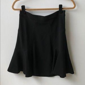 DVF Black Carlita Flounce Mini Skirt Black 4